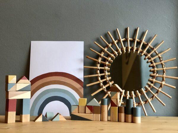 Pankah wooden blocks